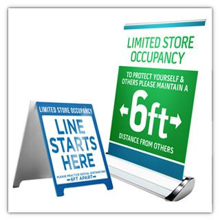 Social Distancing Signs & Banners for Businesses